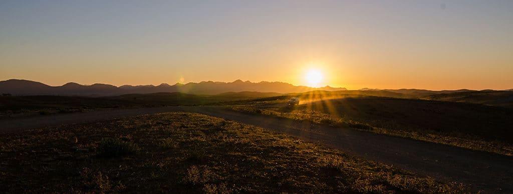 Coucher de soleil dans le Flinders National Park