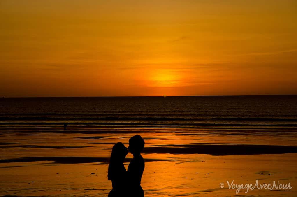 coucher de soleil cable beach