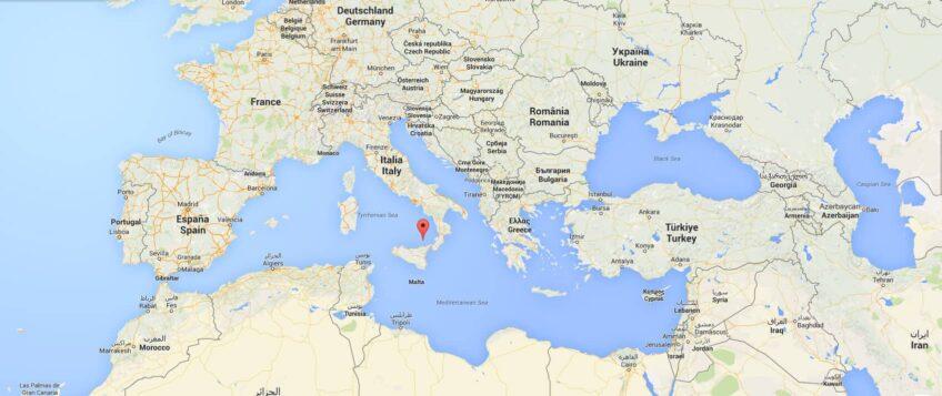 La carte détaillée des îles éoliennes