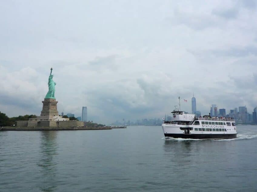 Point de vue a New York - traversee en ferry vers la statue de la liberte
