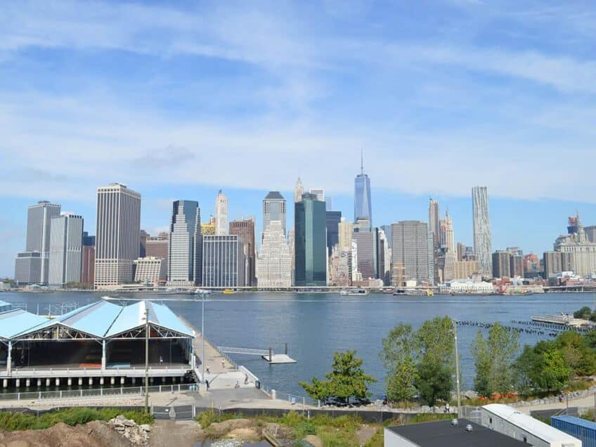 Points de vue a New York - vue depuis le Brooklyn Promenade