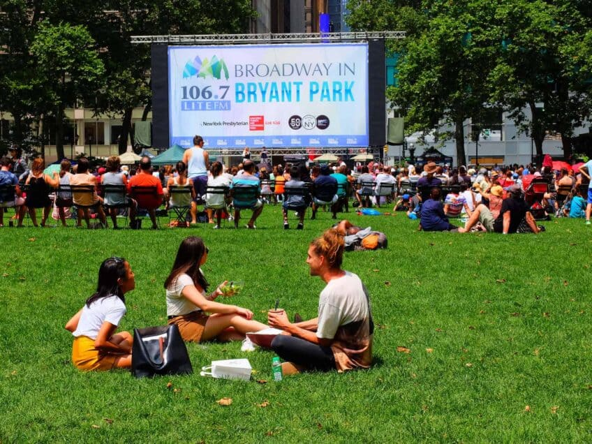 Bryant Park - Broadway in Bryant Park