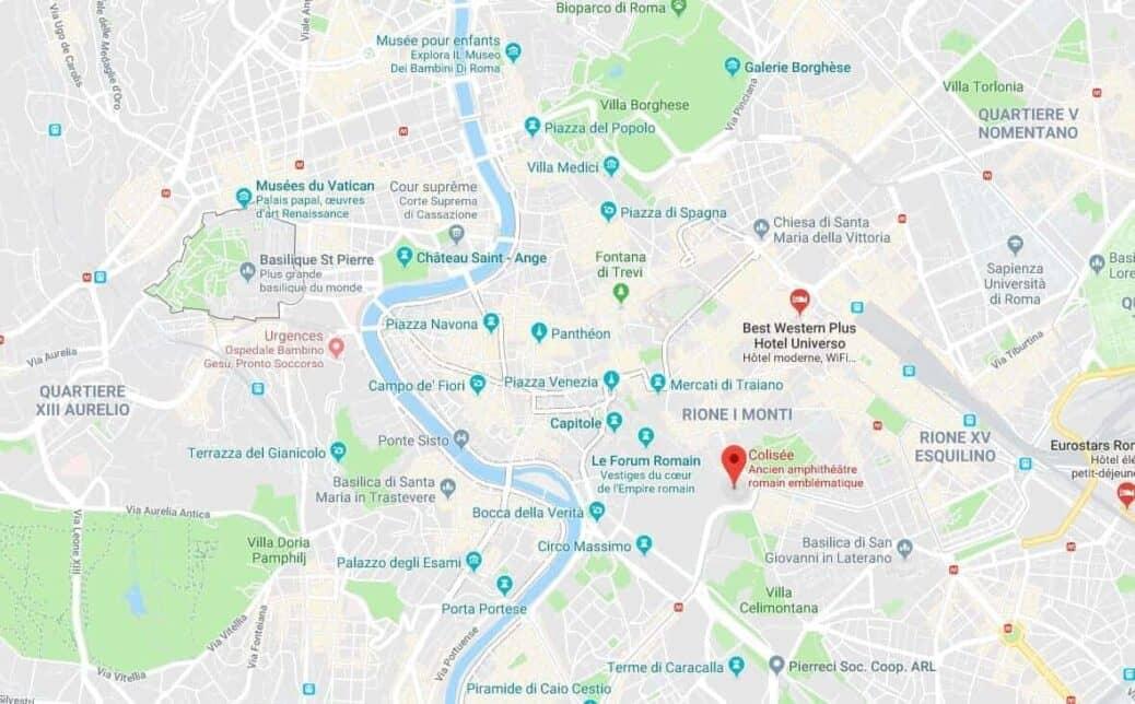 Localiser Le Colisee Sur Une Carte