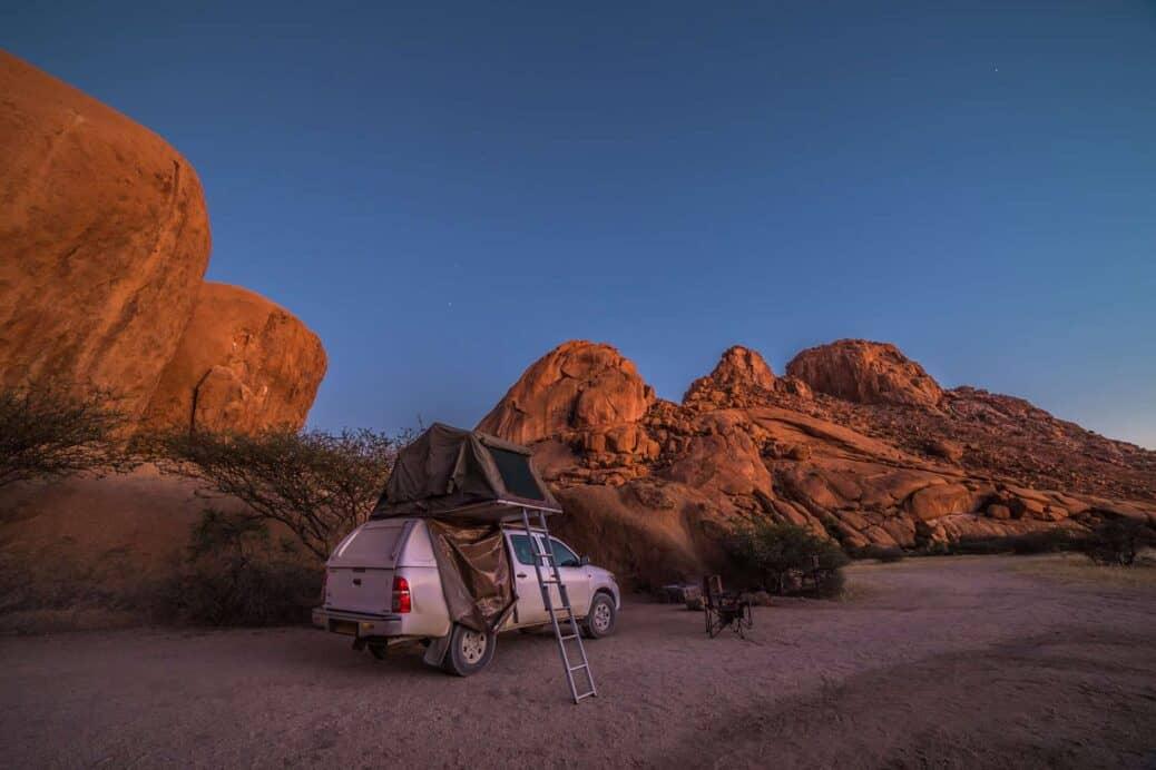voiture avec tente namibie