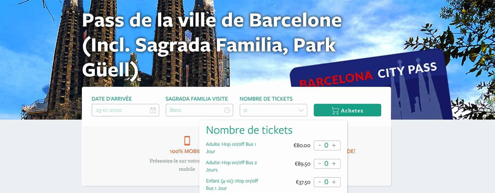 acheter barcelona city pass