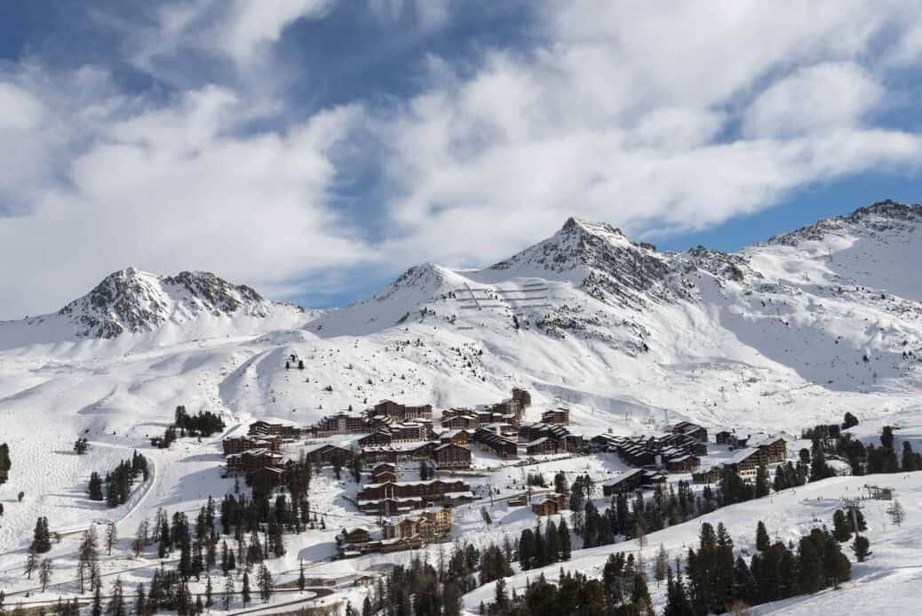 faire du ski la plagne