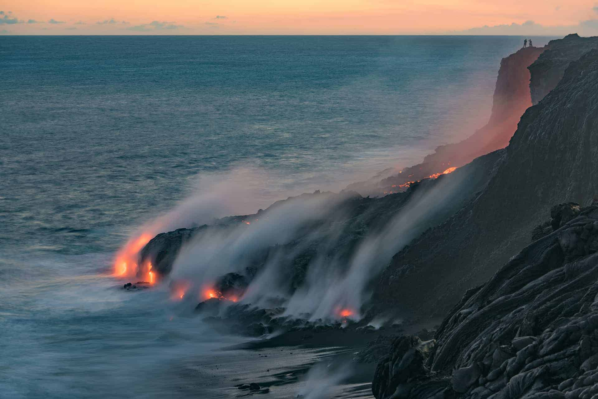 lave du volcan kilauea hawaii