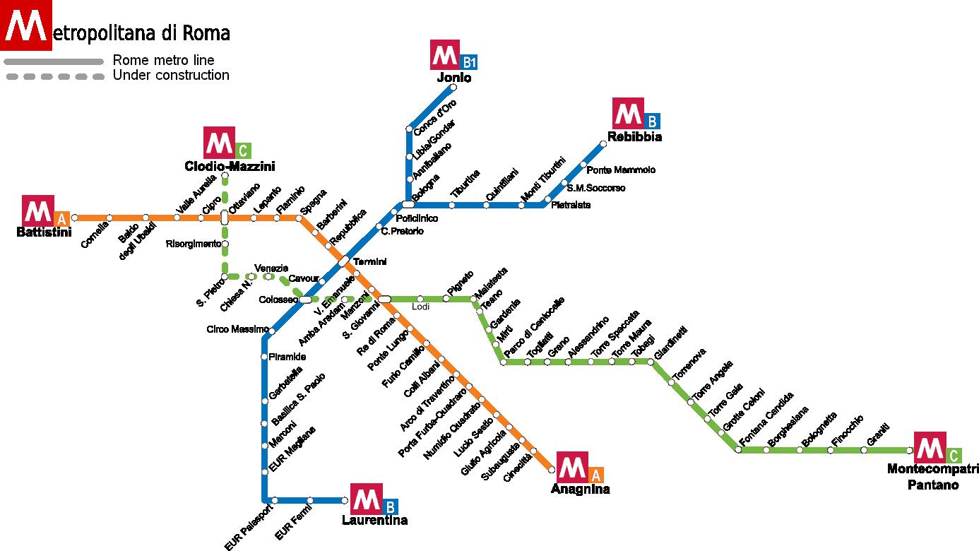 plan metro de rome