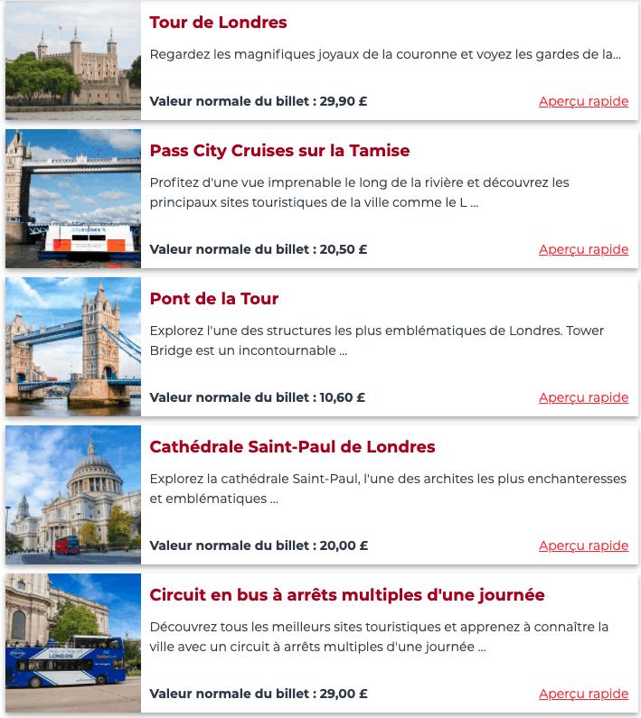 activites london explorer pass