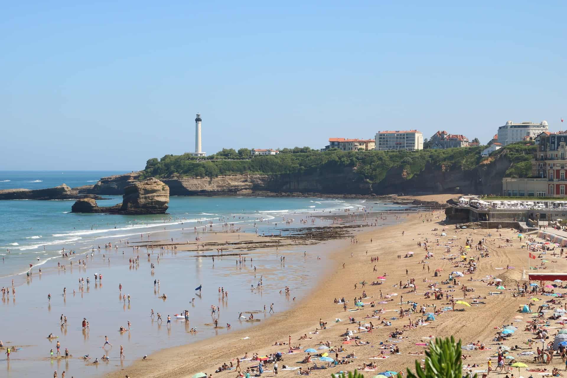plages de biarritz